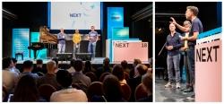 Eventfotografie auf der Digitalkonferenz NEXT18 auf der Reeperbahn in Hamburg, Eröffnung durch Matthias Schrader, Volker Martens und Holley Murchison