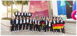 Die WorldSkills Teilnehmer aus Deutschland bei den Weltmeiserschaften der Berufsausbildungen in Abu Dhabi