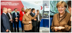 Bundeskanzlerin Angela Merkel auf dem IT Gipfel in Hamburg bei der Arbeitsgruppe Content Technologie
