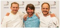 Frank Erpinar mit Bocuse d'Or-Deutschland-Gewinner und Tobias Laabs bei WorldSkills Vorbereitungen 2015
