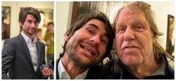 Frank Erpinar mit Gunter Gabriel auf einer Vernissage in Hamburg