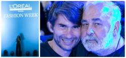 Frank Erpinar mit Udo Walz auf der Fashion Week in Berlin