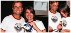 Frank Erpinar mit Jürgen Klopp bei PR-Aufnahmen in Hamburg