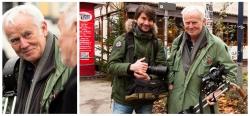 """Frank Erpinar mit Jim Rakete bei den Aufnahmen zur Ausstellung """"The NX Scene"""" in Hamburg"""