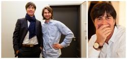 Frank Erpinar mit Jogi Löw bei PR-Aufnahmen in Berlin
