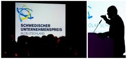 Rede von Hamburgs erstem Bürgermeister Olaf Scholz während der Verleihung des Schwedischen Unternehmenspreises im SCANDIC Emporio Hotel in Hamburg