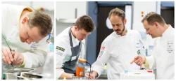 Max Dolge, Tobias Laabs und Christian Krüger (v.l.) bei der Vorbereitung zur WorldSkills WM 2015 in Sao Paulo